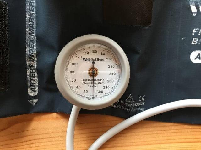 看護師におすすめのアネロイド血圧計(ウェルチ・アレン)の目盛り